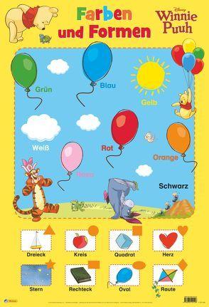 Disney Lernposter: Winnie Puuh – Farben und Formen von Disney Enterprises,  Inc.,  Inc.