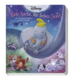 Disney: Gute Nacht, ihr lieben Tiere! – Das kuschelige Fühlbuch zum Einschlafen von Character Building Studios, Marsoli,  Lisa, Weber,  Claudia