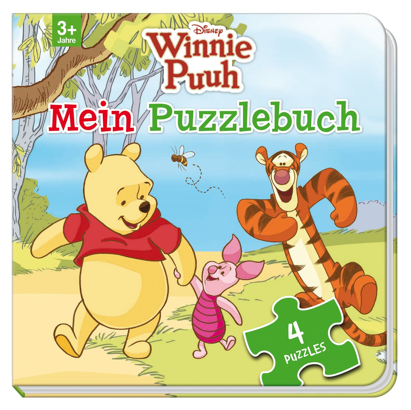 disney winnie puuh mein puzzlebuch von mit 4 puzzles zu je 12 teile. Black Bedroom Furniture Sets. Home Design Ideas