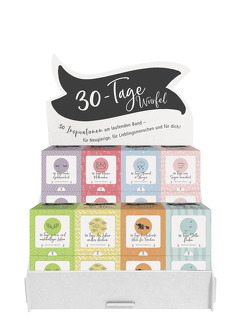 Display 30-Tage-Würfel gefüllt mit 16 Würfeln von Schaefer,  Anja, Siegel,  Tabea