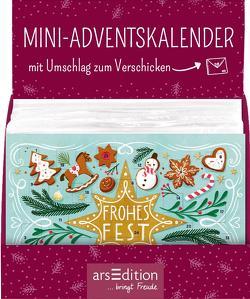 Display Adventskalender zum Verschicken (DIN A6) mit 24 Türchen und Kuvert