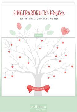 Display Fingerabdruck-Poster Zur Hochzeit