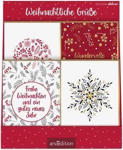 Display Grußkarten zu Weihnachten