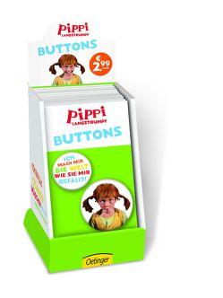 Display Pippi (Film) Buttons von Lindgren,  Astrid