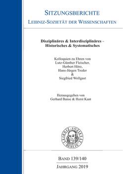 Disziplinäres & Interdisziplinäres – Histoerisches & Systematisches von Banse,  Gerhard, Kant,  Horst