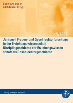 Disziplingeschichte der Erziehungswissenschaft als Geschlechtergeschichte von Andresen,  Sabine, Glaser,  Edith