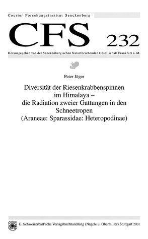 Diversität der Riesenkrabbenspinnen im Himalaya von Jäger,  Peter