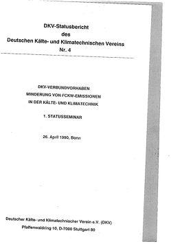 DKV-Verbundvorhaben. Minderung von FCKW-Emissionen in der Kälte- und Klimatechnik von Kruse,  H