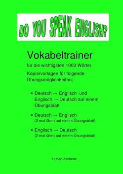 DO YOU SPEAK ENGLISH? Vokabeltrainer-Kopiervorlagen von Zecherle,  Hubert