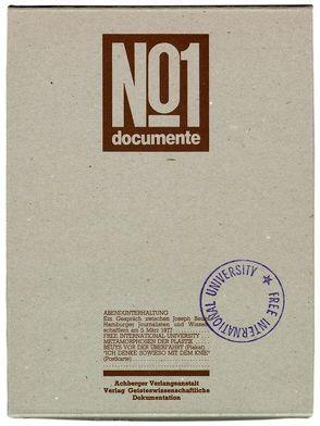 """""""Documente No 1. Zusammen mit """"""""Abendunterhaltung"""""""""""" von Beuys,  Joseph"""