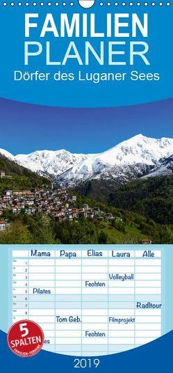 Dörfer des Luganer Sees – Familienplaner hoch (Wandkalender 2019 , 21 cm x 45 cm, hoch) von Hampe,  Gabi