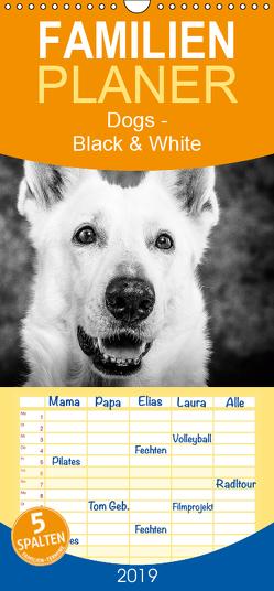 Dogs – Black & White – Familienplaner hoch (Wandkalender 2019 , 21 cm x 45 cm, hoch) von Pinkoss Photostorys,  Oliver