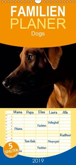 Dogs – Familienplaner hoch (Wandkalender 2019 , 21 cm x 45 cm, hoch) von Noack,  Nicole