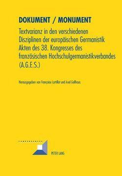 Dokument / Monument von Gellhaus,  Axel, Lartillot,  Françoise