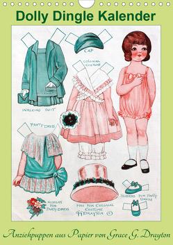 Dolly Dingle Kalender – Anziehpuppen von Grace G. Drayton (Wandkalender 2021 DIN A4 hoch) von Erbs,  Karen