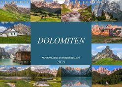 Dolomiten, Alpenparadies im Norden Italiens (Wandkalender 2019 DIN A4 quer) von Kruse,  Joana