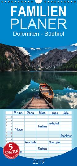 Dolomiten – Südtirol – Familienplaner hoch (Wandkalender 2019 , 21 cm x 45 cm, hoch) von Claude Castor I 030mm-photography,  Jean