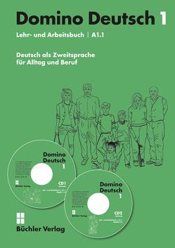 Domino Deutsch / Domino Deutsch 1 – Lehr- und Arbeitsbuch A1.1 inkl. 2 Audio-CDs von Büchler,  Susanne