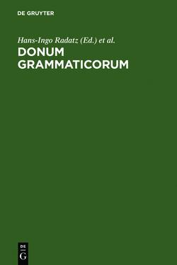 Donum Grammaticorum von Radatz,  Hans-Ingo, Schlösser,  Rainer