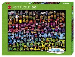 Doodle Rainbow Puzzle von Burgerman,  Jon
