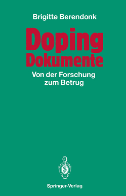 Doping Dokumente von Berendonk,  Brigitte