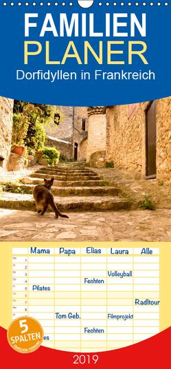 Dorfidyllen in Frankreich – Familienplaner hoch (Wandkalender 2019 , 21 cm x 45 cm, hoch) von Voigt,  Tanja