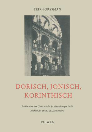 Dorisch, Jonisch, Korinthisch von Forssman,  Erik