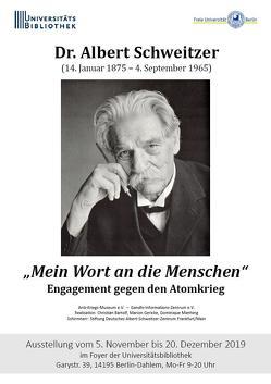 """Dr. Albert Schweitzer : """"Mein Wort an die Menschen"""""""