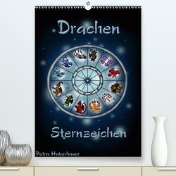 Drachen-Sternzeichen (Premium, hochwertiger DIN A2 Wandkalender 2021, Kunstdruck in Hochglanz) von Haberhauer,  Petra