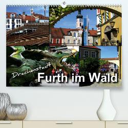 Drachenstadt Furth im Wald (Premium, hochwertiger DIN A2 Wandkalender 2021, Kunstdruck in Hochglanz) von Bleicher,  Renate