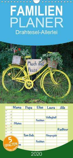 Drahtesel-Allerlei – Familienplaner hoch (Wandkalender 2020 , 21 cm x 45 cm, hoch) von Keller,  Angelika