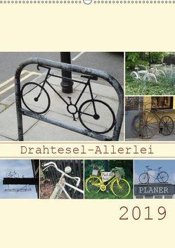 Drahtesel-Allerlei / Planer (Wandkalender 2019 DIN A2 hoch) von Keller,  Angelika