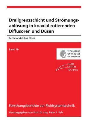 Drallgrenzschicht und Strömungsablösung in koaxial rotierenden Diffusoren und Düsen von Cloos,  Ferdinand-Julius