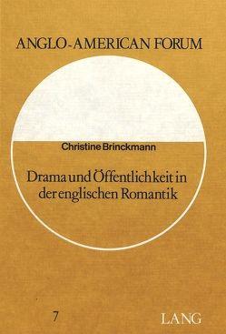Drama und Öffentlichkeit in der englischen Romantik