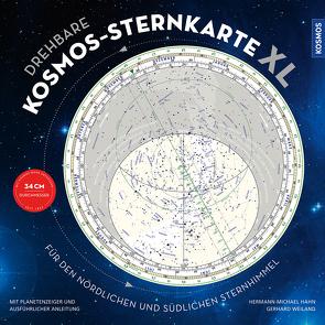 Drehbare Kosmos-Sternkarte XL von Hahn,  Hermann-Michael, Weiland,  Gerhard