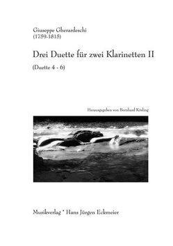 Drei Duette für zwei Klarinetten II von Gherardeschi,  Giuseppe, Kösling,  Bernhard