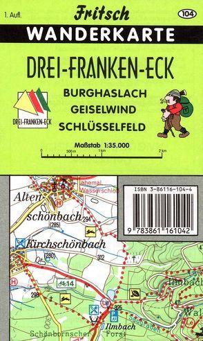 Drei-Franken-Eck von Fritsch Landkartenverlag