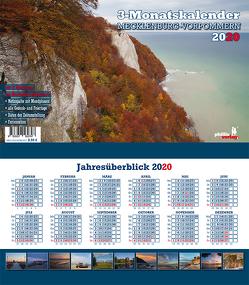 Drei-Monatskalender Mecklenburg-Vorpommern 2020 von Neubert,  Jörg