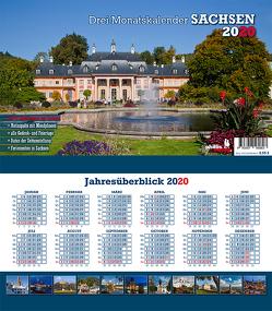 Drei-Monatskalender Sachsen 2020 von Neubert,  Jörg