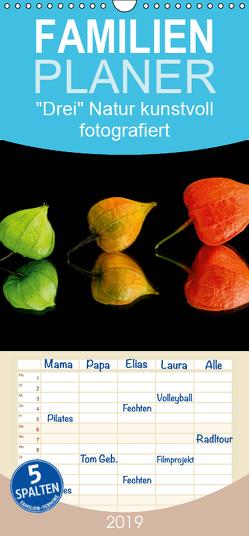 """""""Drei"""" Natur kunstvoll fotografiert – Familienplaner hoch (Wandkalender 2019 , 21 cm x 45 cm, hoch) von Goerz,  Beate"""