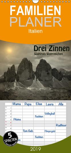Drei Zinnen – Südtirols Wahrzeichen – Familienplaner hoch (Wandkalender 2019 , 21 cm x 45 cm, hoch) von Niederkofler,  Georg