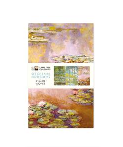 Dreier Set Mini-Notizbücher: Claude Monet