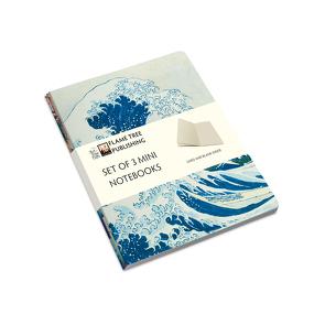 Dreier Set Mini-Notizbücher: Japanische Holzschnitte