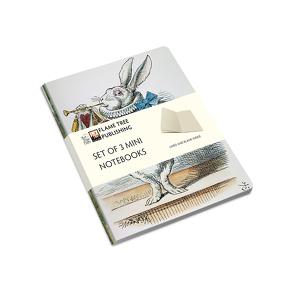 Dreier Set Mini-Notizbücher: John Tenniel, Alice im Wunderland