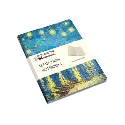 Dreier Set Mini-Notizbücher: Vincent van Gogh