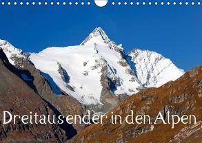 Dreitausender in den Alpen (Wandkalender 2018 DIN A4 quer) von Kramer,  Christa