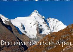 Dreitausender in den Alpen (Wandkalender 2019 DIN A2 quer) von Kramer,  Christa