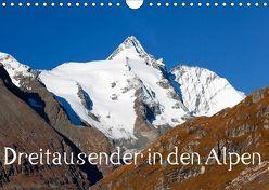 Dreitausender in den Alpen (Wandkalender 2019 DIN A4 quer) von Kramer,  Christa