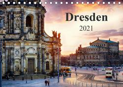 Dresden 2021 / Geburtstagskalender (Tischkalender 2021 DIN A5 quer) von Meutzner,  Dirk