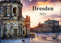 Dresden 2021 / Geburtstagskalender (Wandkalender 2021 DIN A2 quer) von Meutzner,  Dirk